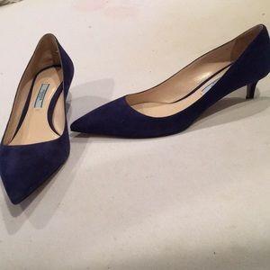 Prada little suede heels